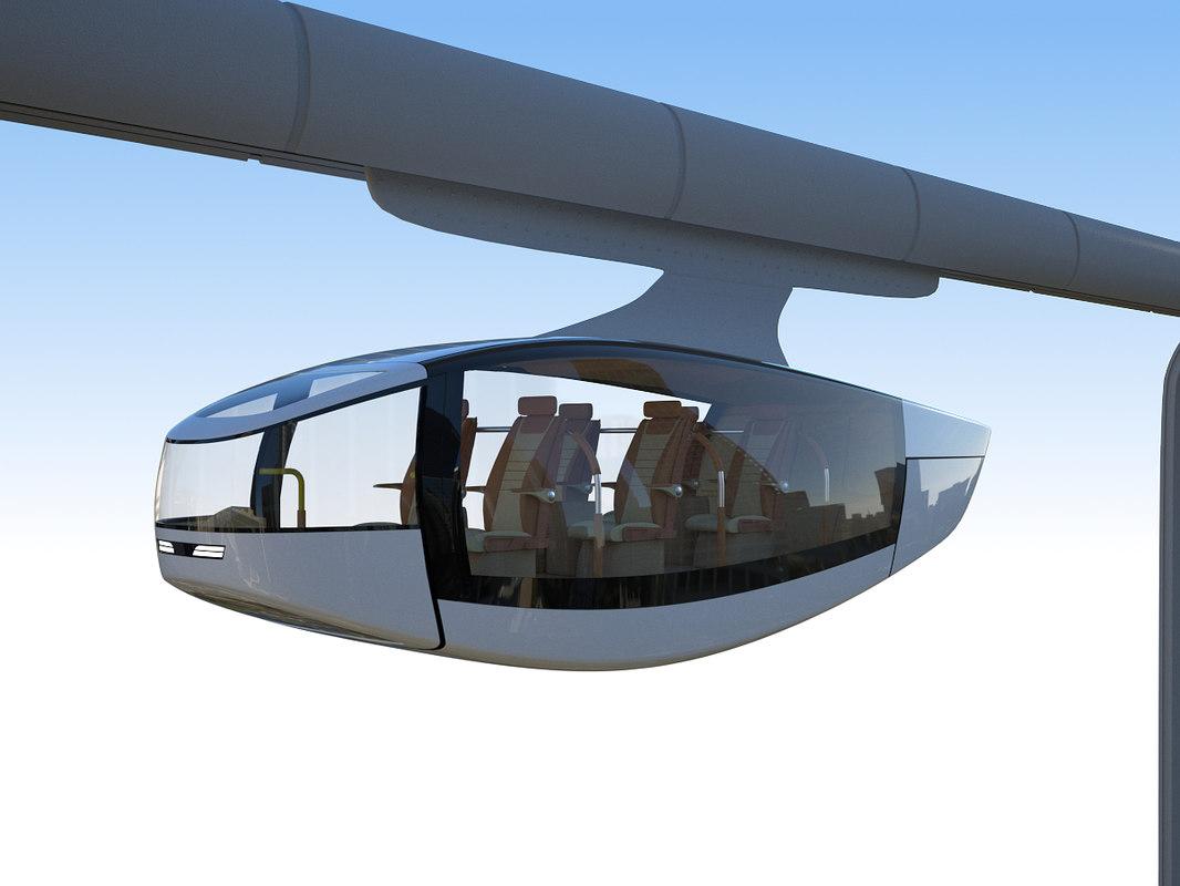 sky rail levitates 3D model