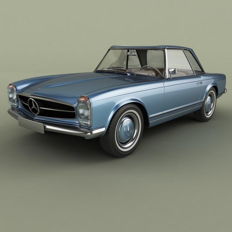 3D 1964 mercedes 230sl pagoda