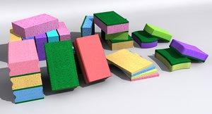 kitchen sponge 3D