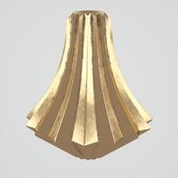 3D sia bronze vase