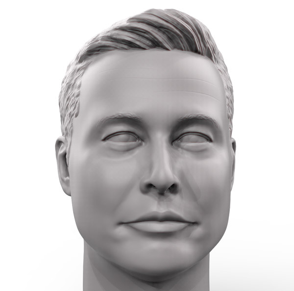 printable portrait elon musk 3D model