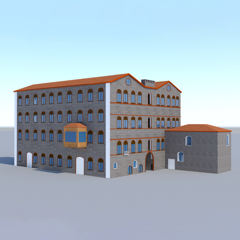 3D historic old building model