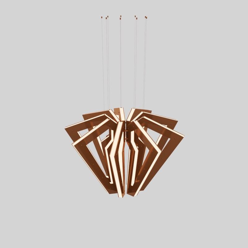 metal spider chandelier 3D model