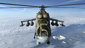3D russian combat helicopter mi-24