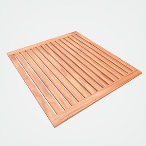 teak bathroom mat model