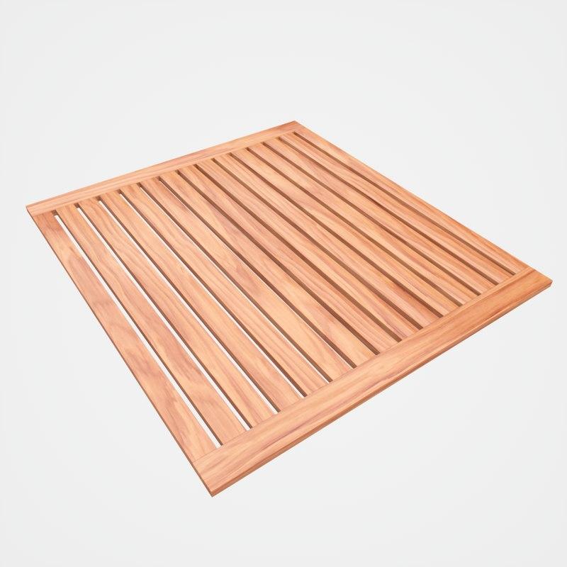 teak bathroom mat model