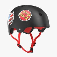 3D skateboard helmet black