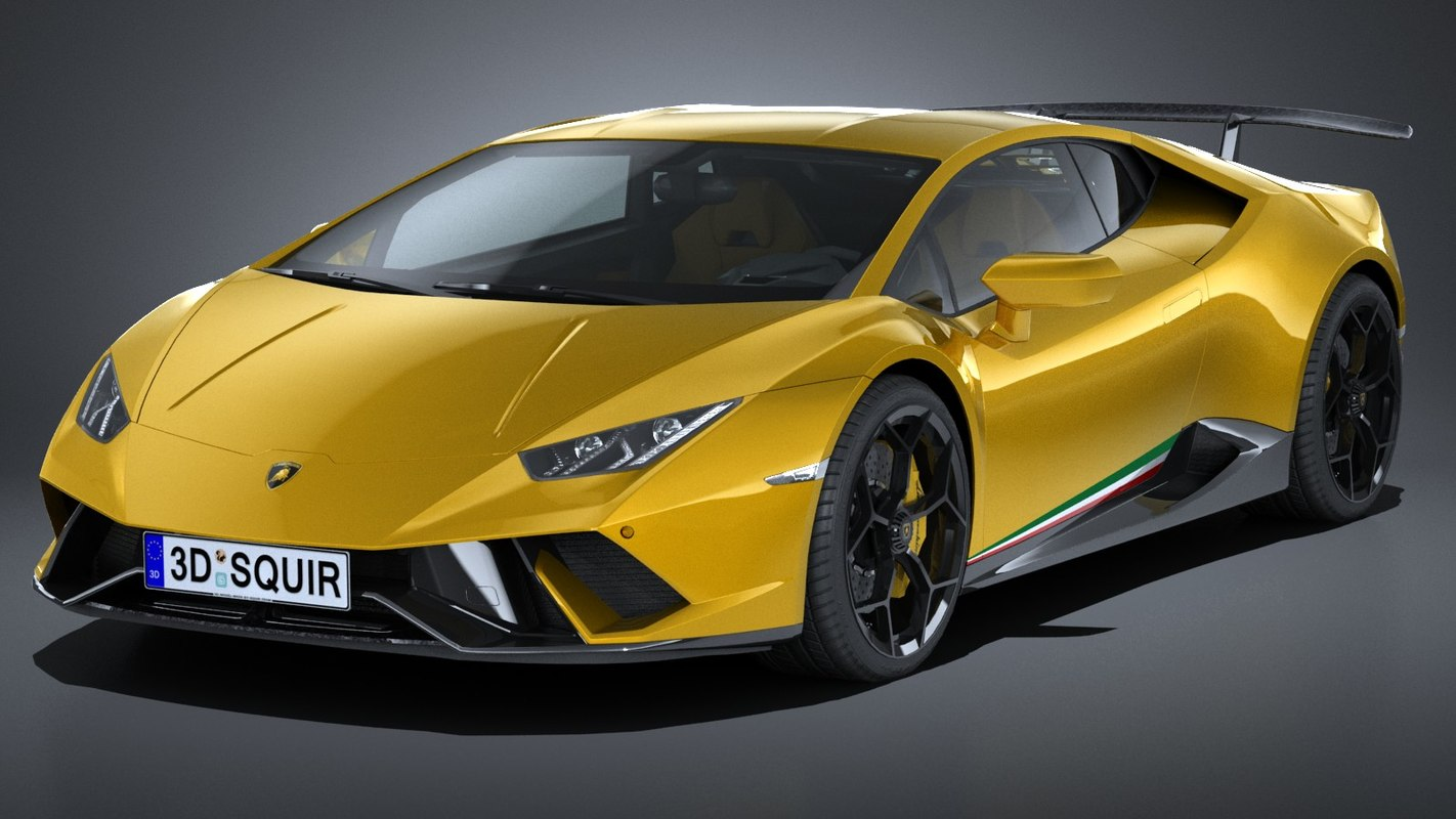 3D lamborghini huracan performante model