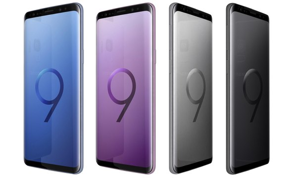 samsung galaxy s9 colors 3D model