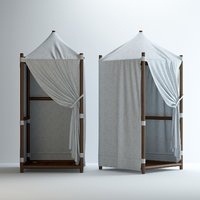 paraggi beach hut 3D model