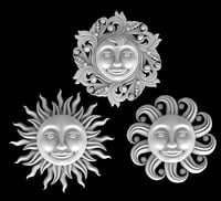 3D sun moon heart model
