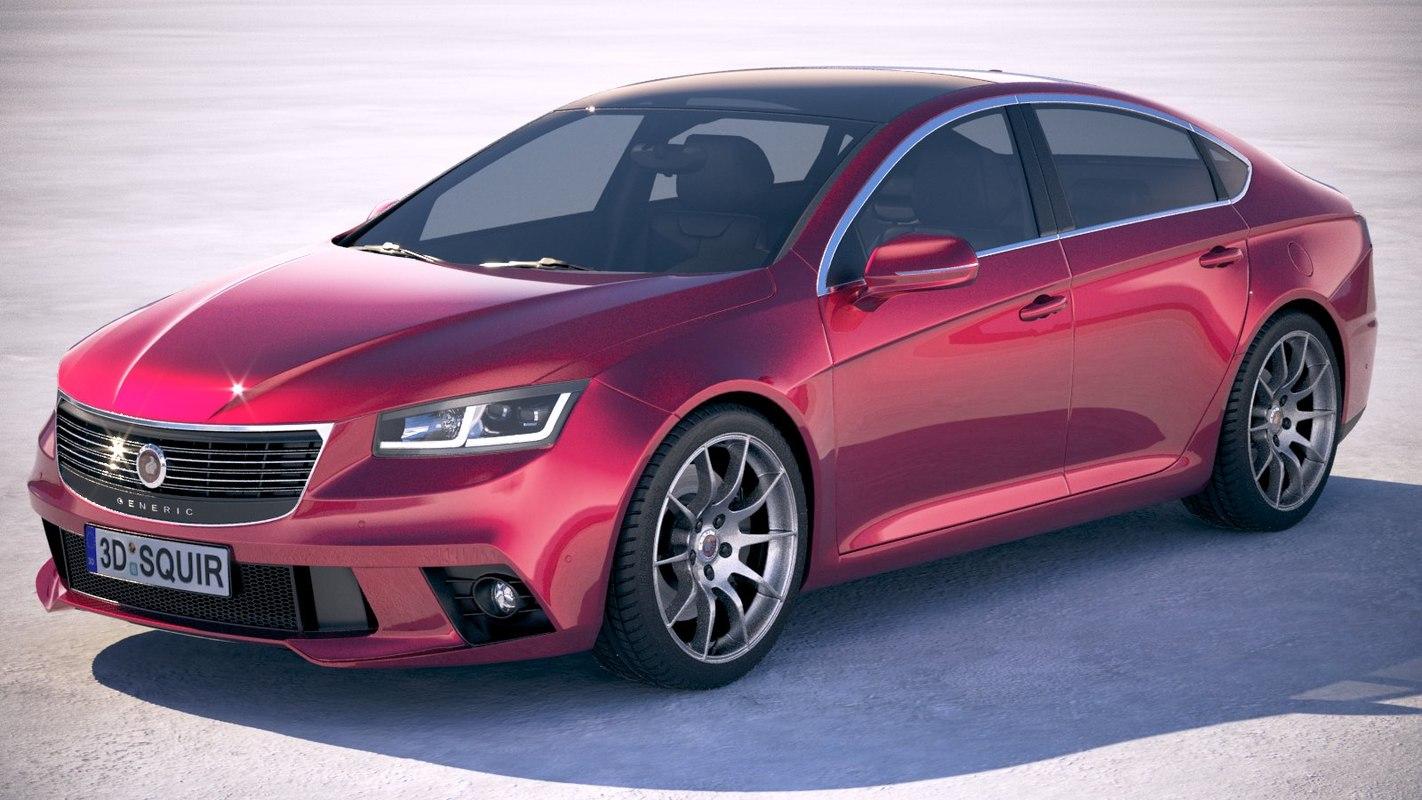 generic sedan v2 model