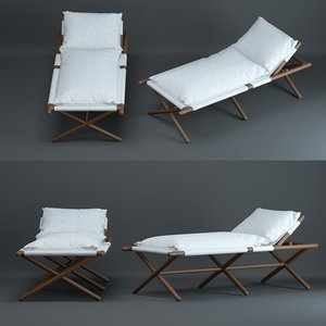 paraggi-sun-lounger 3D model