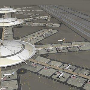 3D airport model