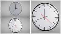 3D set wall clock model