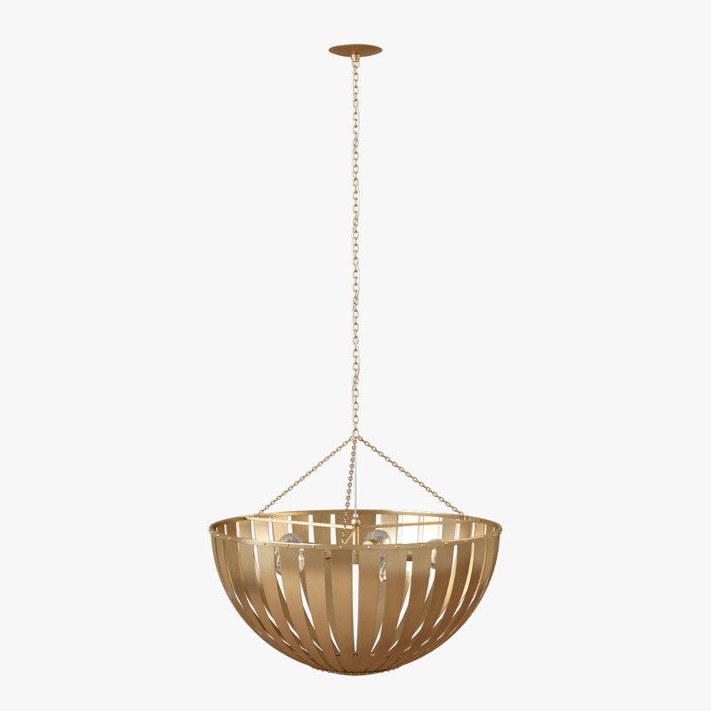 3D gold lamp bowl