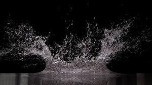 water splash big 3D