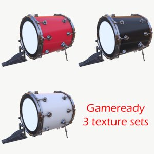 drum pbr unity 3D model