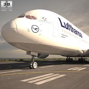 3D airbus a380 380 model