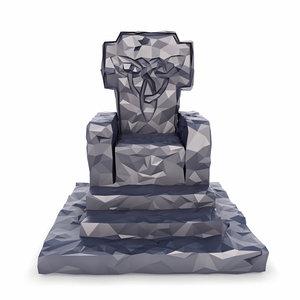 throne 3D model