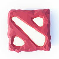dota 2 logo 3D