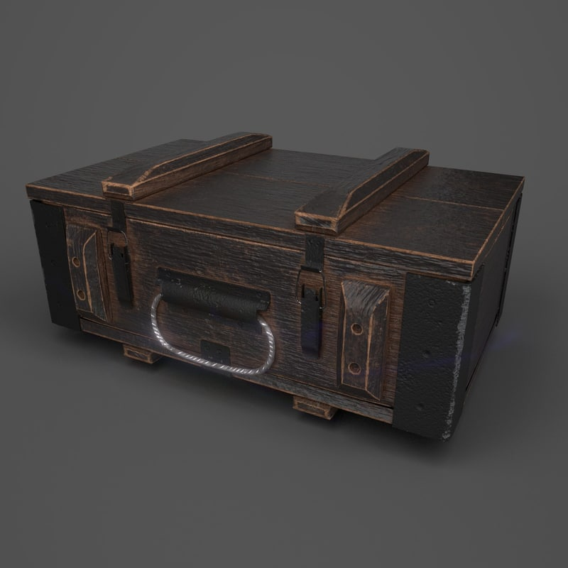 3D reinforced wooden crate