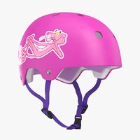 3D skateboard helmet pink model
