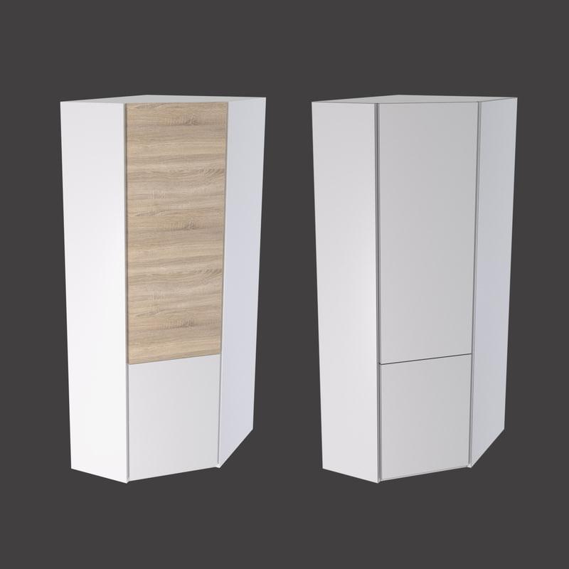 3D corner cabinet lausanne 2-31p