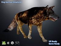 optimized dog german 3D model