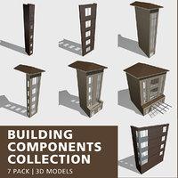 building components 3D model