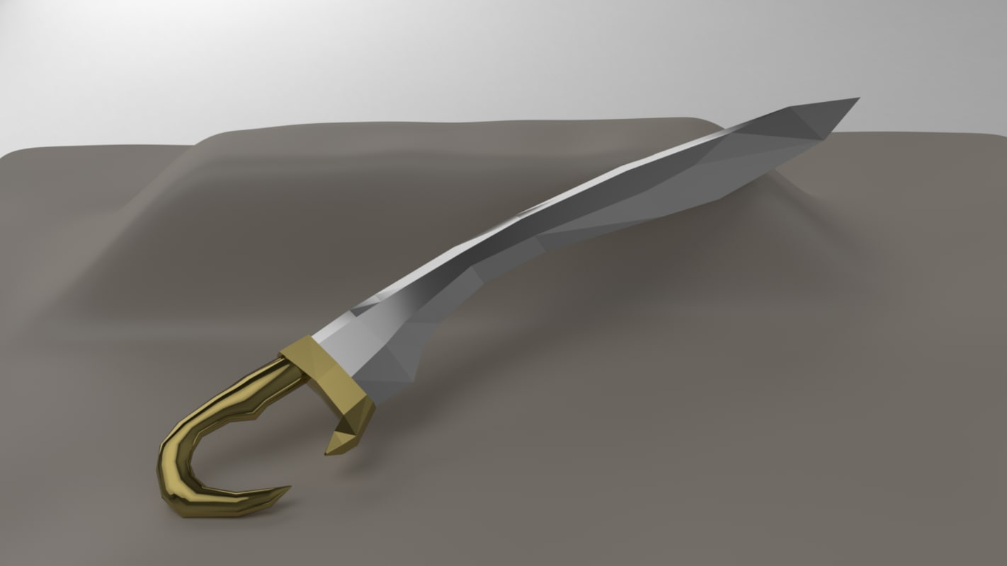 falcata blade rpg 3D model