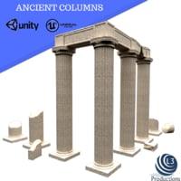 3D ancient columns
