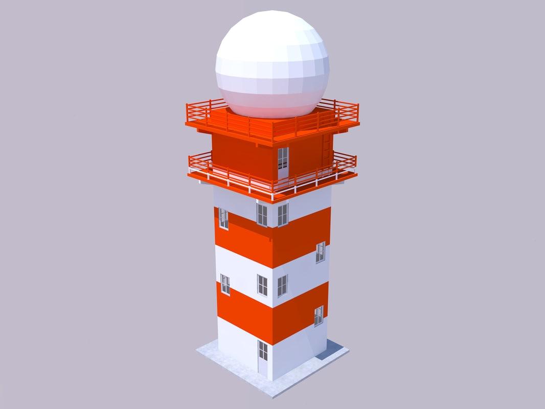 radar tower 3D