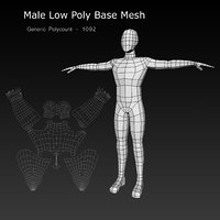 Human Male Low Poly Base Mesh