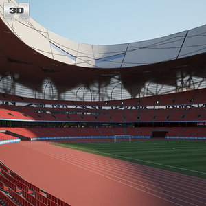 national stadium beijing 3D model