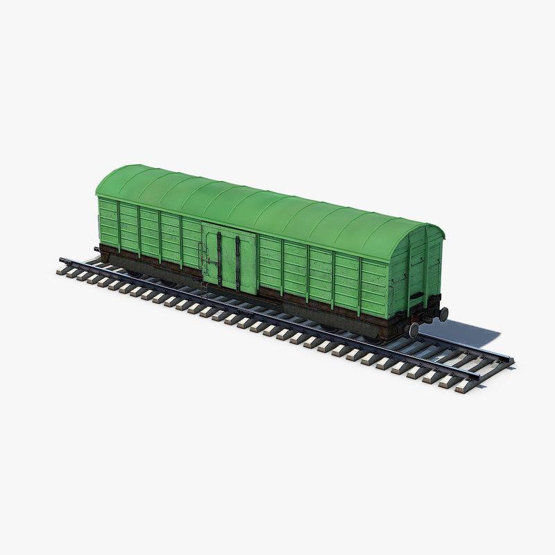 box car green 3D