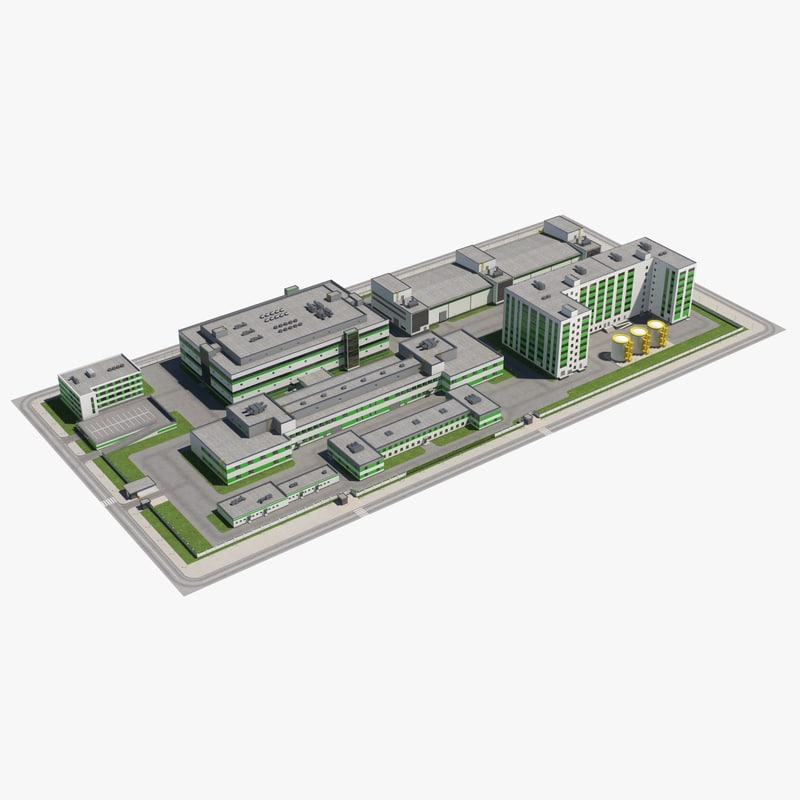 industrial buildings 3D model