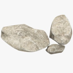 small stones set 3D model