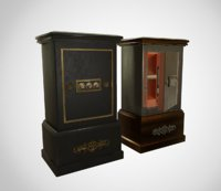 3D antique safe model