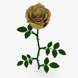 yellow rose 3D model
