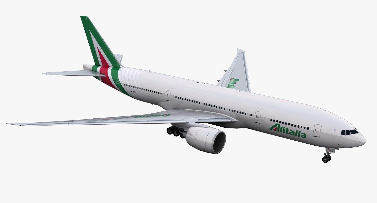 777-200 alitalia 3D model