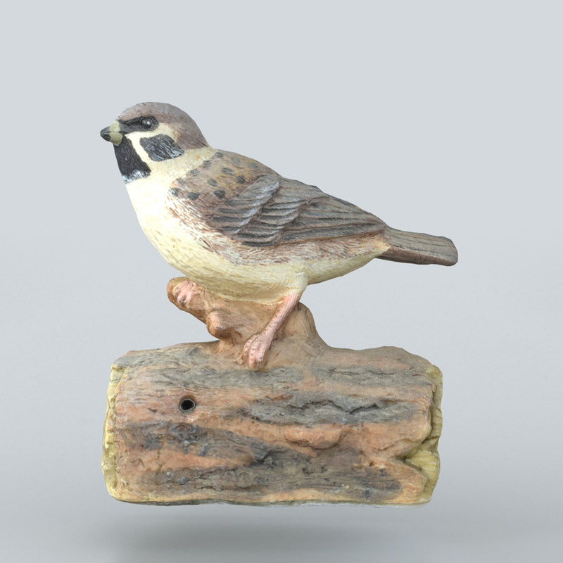 3D model sparrow statue scanning