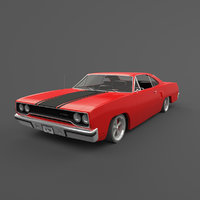 1970 plymouth roadrunner 3D model
