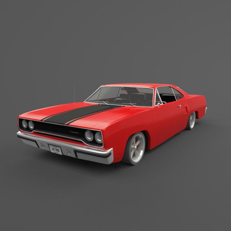 1970 plymouth roadrunner 3D model