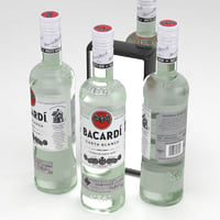 Alcohol Bottle Bacardi Carta Blanca White Rum 700ml
