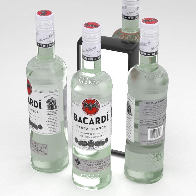 rum bacardi carta 3D model