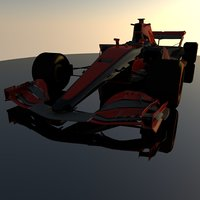3D model f1 car