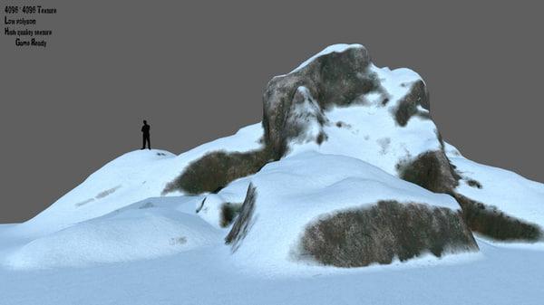 rock snow 3D model
