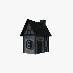 3D model cottage architecture