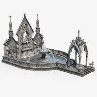 Gothic Fountain 02